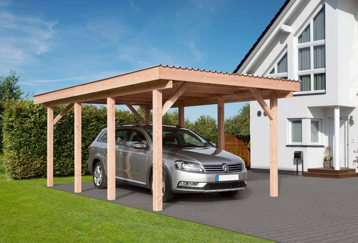 carport erding mit flachdach ca b340xt570 cm mit alu dacheindeckung mr gardener bremerv rde. Black Bedroom Furniture Sets. Home Design Ideas