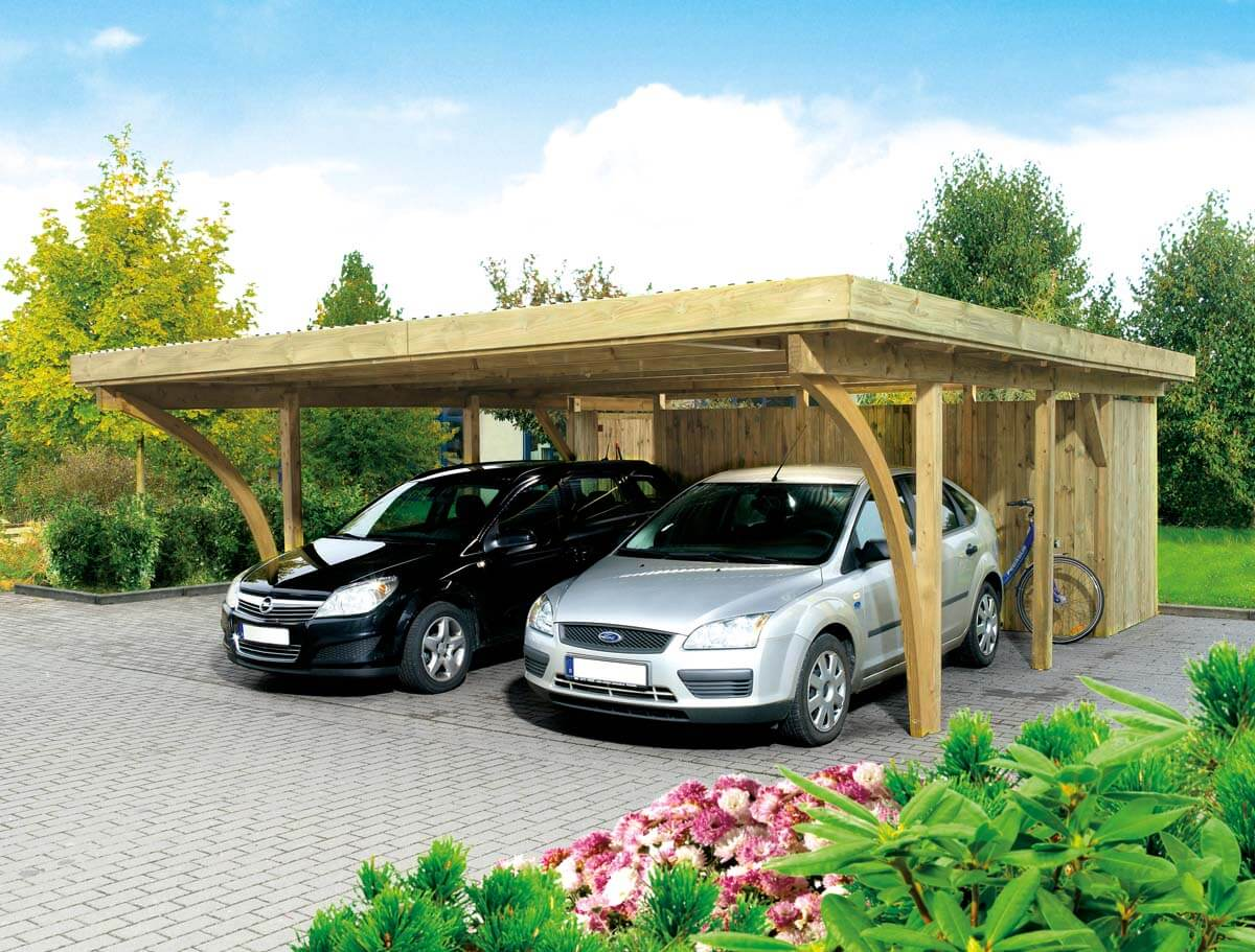 doppelcarport k ln 2 mit flachdach ca b 604xt 760 cm ohne ger teraum mr gardener. Black Bedroom Furniture Sets. Home Design Ideas