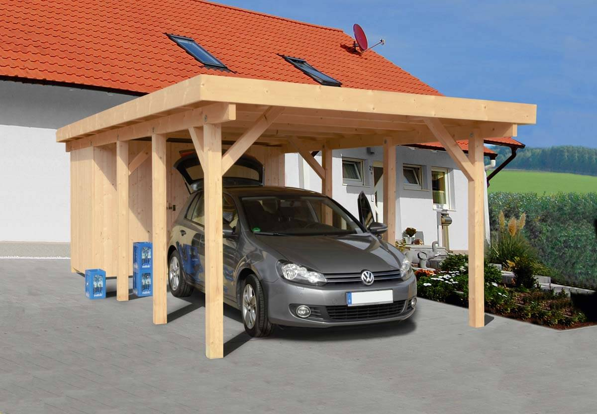 carport n rnberg 2 mit flachdach ca b 360xt 760 cm o ger teraum mr gardener bremerv rde. Black Bedroom Furniture Sets. Home Design Ideas