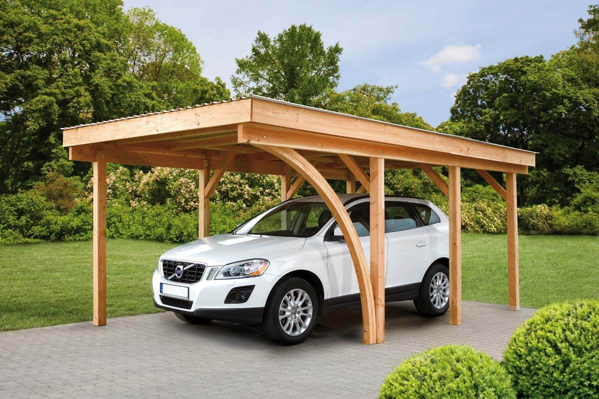 punktfundament carport carport aus l rche unbehandelt und. Black Bedroom Furniture Sets. Home Design Ideas