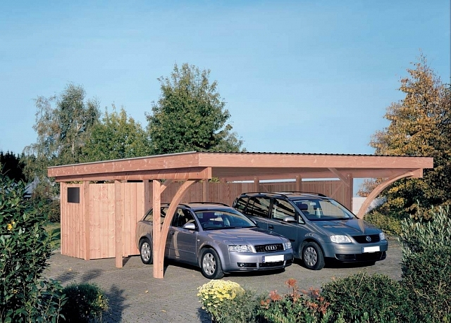 carport stuttgart 2 mit flachdach ca b 604xt 760 cm ohne ger teraum mr gardener. Black Bedroom Furniture Sets. Home Design Ideas