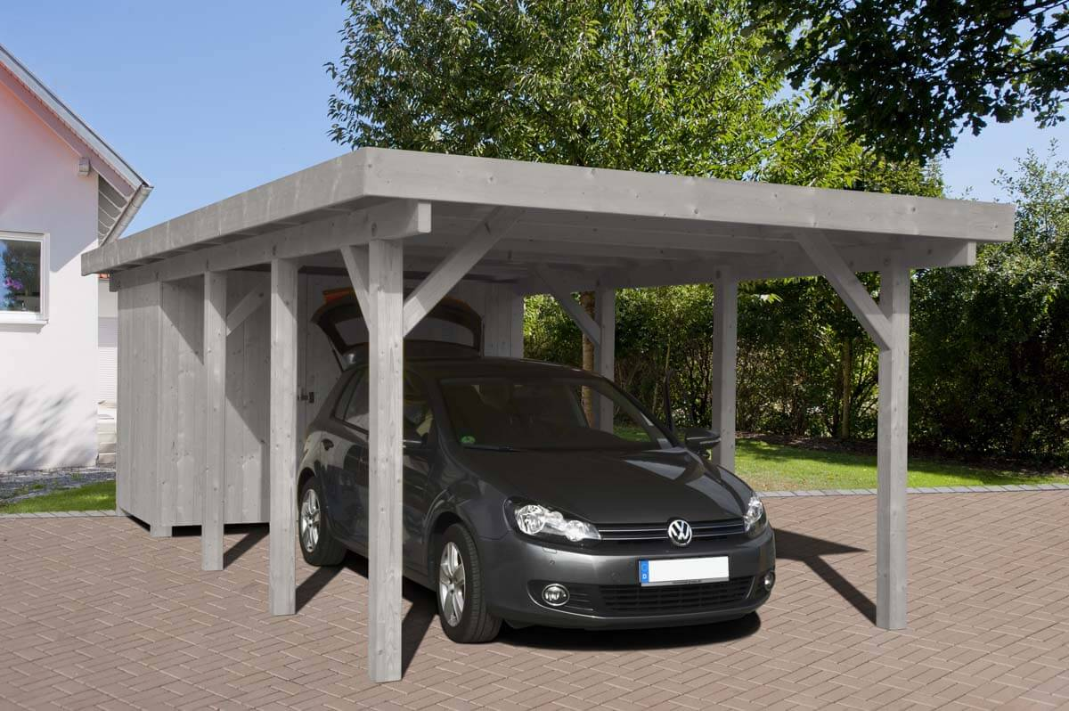 carport rosenheim 2 mit flachdach ca b 358xt 732 cm. Black Bedroom Furniture Sets. Home Design Ideas