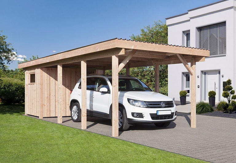 carport erding 2 mit flachdach ca b340xt760 cm mit alu dacheindeckung mr gardener bremerv rde. Black Bedroom Furniture Sets. Home Design Ideas